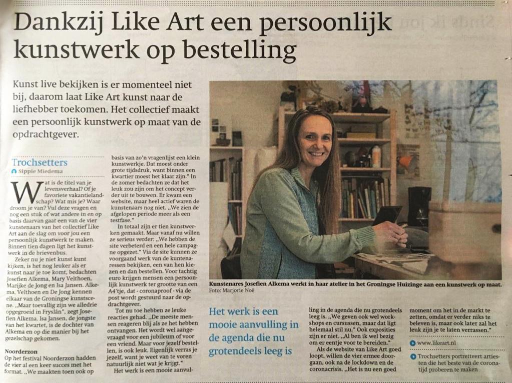 artikel friesch dagblad 11-1-21  Like Art